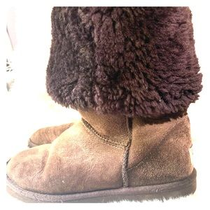 Tall chocolate UGGS
